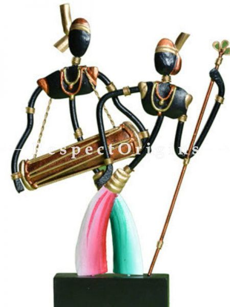 Buy Working Tribal Couple in Wrought Iron; 11 in height At RespectOrigins.com