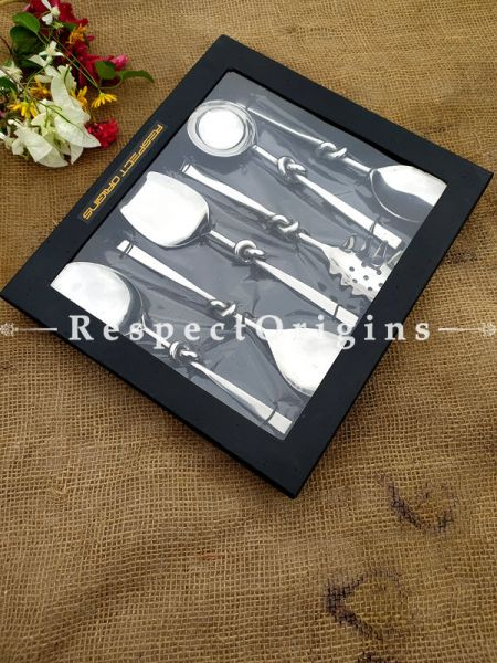 Arthur Designer Country Handcrafted Serving Spoon Set of 6; 11 Inches; RespectOrigins.com