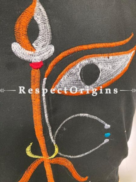 Designer Mix n Match One-of-a-kind Bengali Embroidered Cotton Choli Blouse  Black; Size 40; RespectOrigins.com