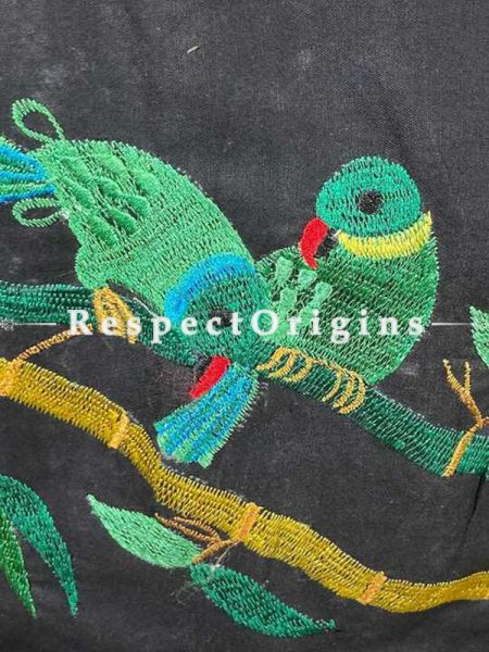 Designer Mix n Match One-of-a-kind Bengali Embroidered Choli Blouse Black; Size 38; RespectOrigins.com