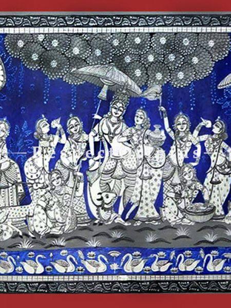 Buy Dance of Devotion Pattachitra Katha Dance of Devotion Pattachitra Painting Canvas Large Horizontal Folk Art of Odisha 24x40; RespectOrigins.com