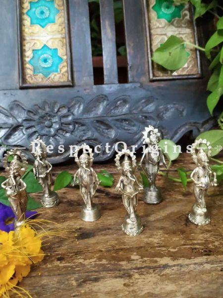 Celebration Ganesha Musician Figurines in Dhokra; RespectOrigins.com