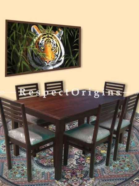 Buy 6 Seater Dining Table Set in Solid Wood At RespectOrigins.com