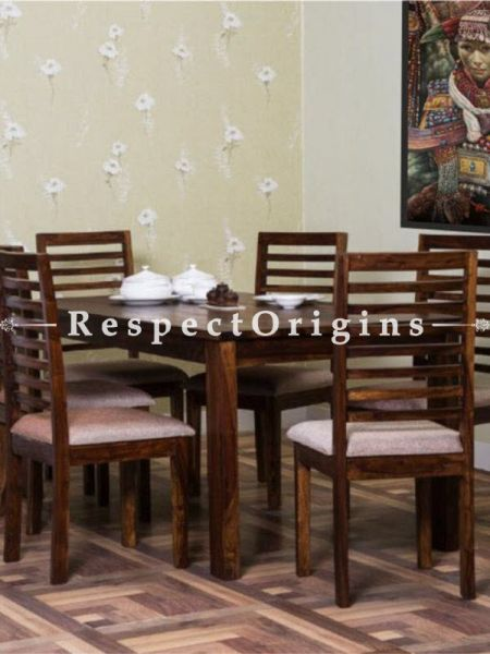 Buy 6 Seater Modern Dining Table Set in Solid Wood At RespectOrigins.com
