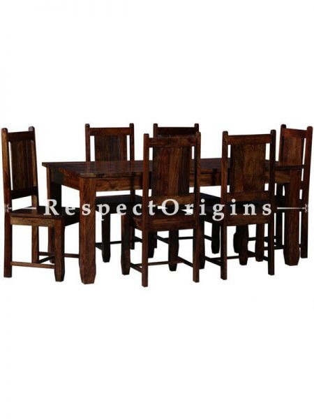 Buy Dining Table With 6 Chairs; Wood At RespectOrigins.com