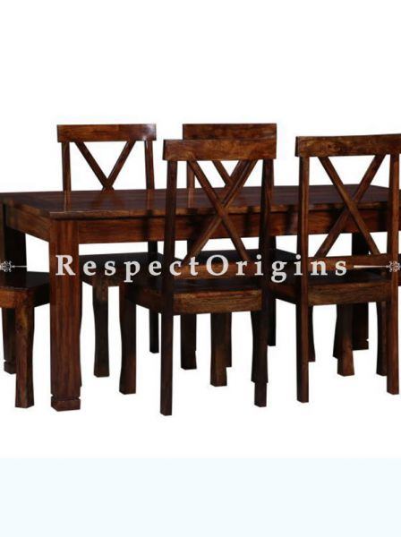 Buy Phoebe Rustic Dining Table With 6 Chairs; Wood At RespectOrigins.com
