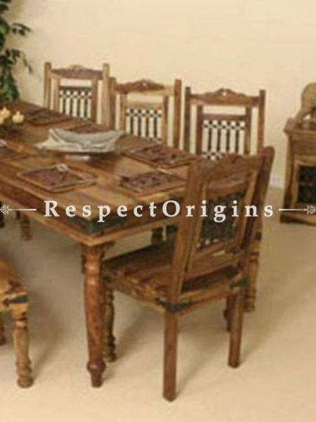 Buy AlexCountry Wooden Dining Table with 6 Chairs At RespectOrigins.com