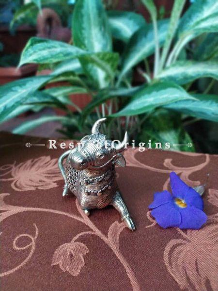 Tribal Dhokra Art Bull Brass; 4 Inches; RespectOrigins.com