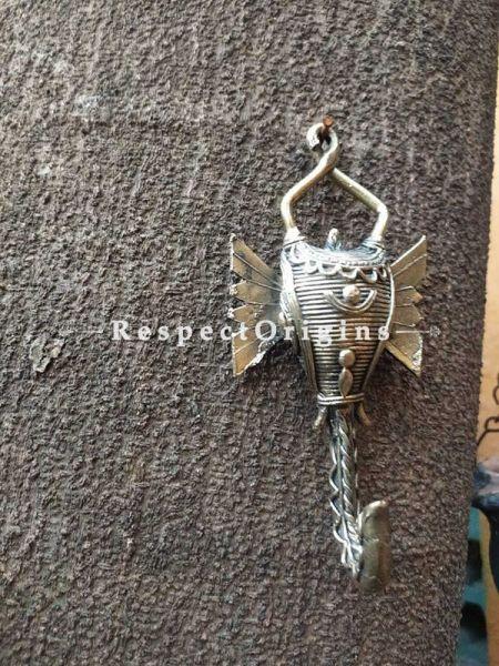 Tribal Dhokra Art Elephant Wall Hook  Set of 2 Brass; 6 Inches; RespectOrigins.com