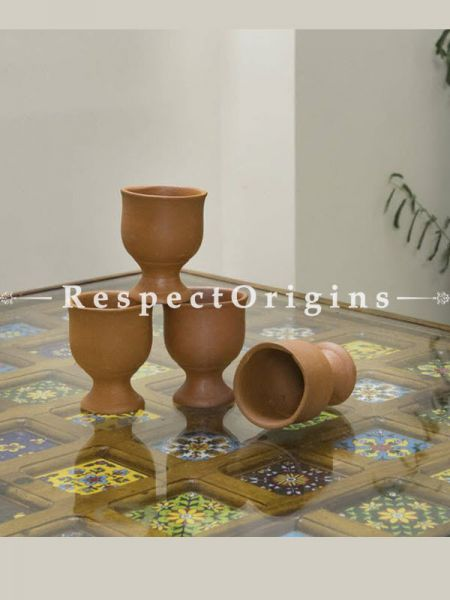 Buy Earthenware Terracotta Beer Glass Set of 4 At RespectOrigins.com