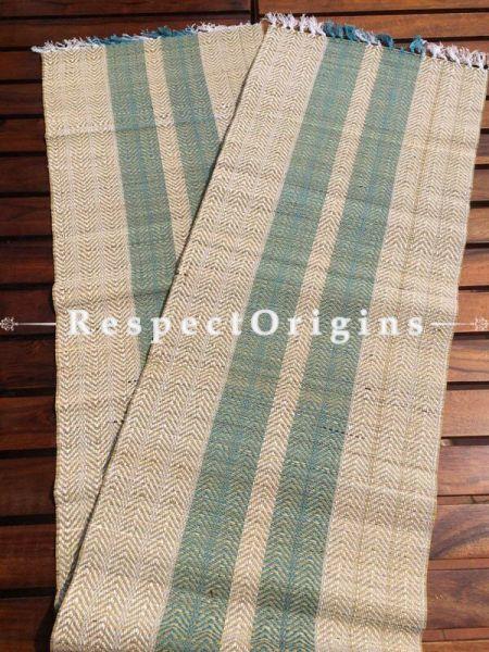 Buy Table Mats Online|Sophisticated Set of 6 Blue Table Mats and a Runner; Kora Grass|RespectOrigins.com