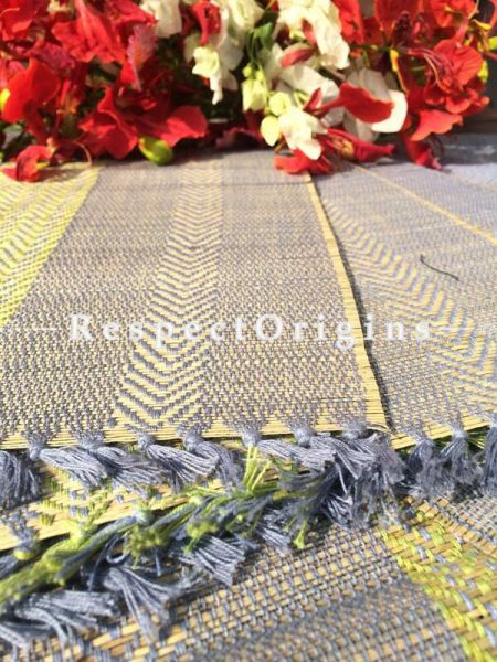 Buy Table Mats Online|Set of 6 Blue Table mats and a Table Runner; Handcrafted; Kora Grass; Chemical Free|RespectOrigins.com
