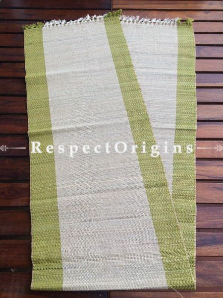 Buy Table Mats Online|Set of 6 Green Table mats and a Table Runner; Handcrafted; Kora Grass; Chemical Free|RespectOrigins.com