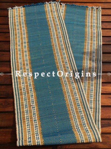 Buy Table Mats Online|Ecofriendly; Set of 6 blue Table Mats and a Runner; Kora Grass|RespectOrigins.com