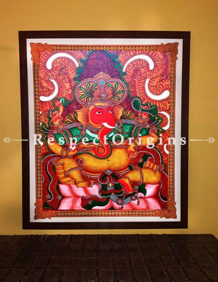 Ekadanta; Ganesha Kerala Mural Art On Canvas; 35x41 in