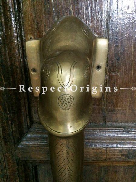 Buy Collectible Elephant Head Pull Door Handle; Antique Finish Indian Decor; 13 in; Handcrafted Door Accessories At RespectOrigins.com