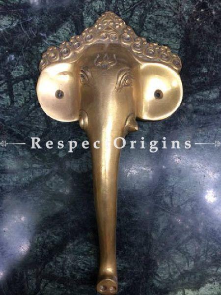 Buy Elephant Head Pull Door Handle; Antique Finish Indian Decor; 10 in; Handcrafted Door Accessories At RespectOrigins.com