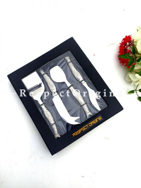 Engraved Fish Handles on a Lovely Cheese Slicer Charcuterie Board Gift Boxed Set; 6.5 Inches; RespectOrigins.com