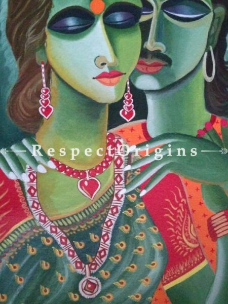 Eternal Love Hand-painted Art Painting - 15In x 22In Acrylic On Paper.