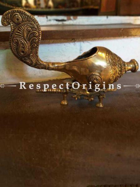 Buy Ethnic Conch Shell Brass Diya or Oil Lamp At RespectOrigins.com