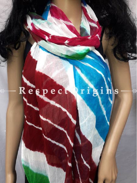 Fancy Chiffon Leheriya Dupatta; RespectOrigins.com