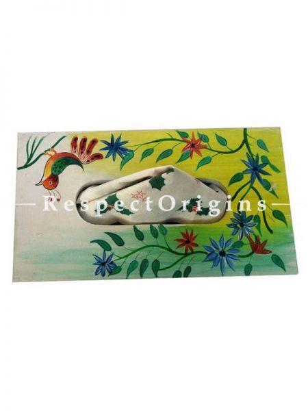 Buy Fancy Rectangular Tissue Holder or Napkin Holder, Wooden Hand Painted At RespectOrigins.com