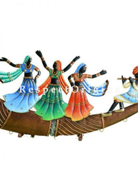 Buy Dancing Rural Troup; Tribal Wall Art; Wrought Iron, 9x26x1 in At RespectOrigins.com
