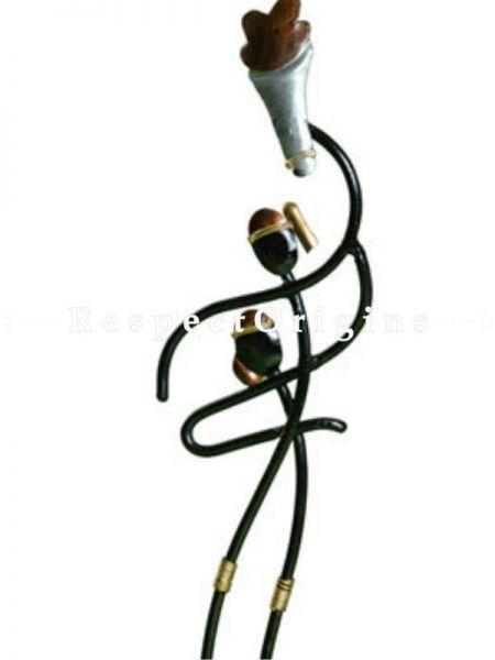 Buy Athlete carrying Torch Figurine, Showpiece, Memento; Wrought Iron At RespectOrigins.com