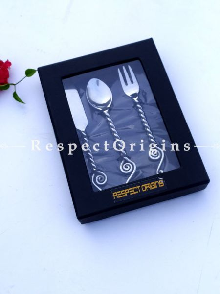 Gift Set for Baby's First Dinner Flatware Boxed ; 6 Inches; RespectOrigins.com