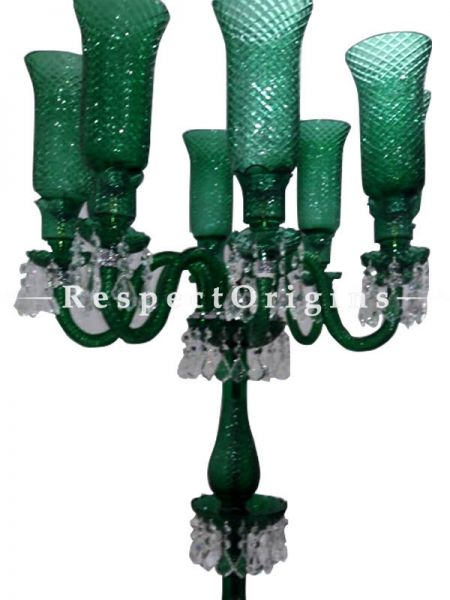 Buy Sea Green 9 Lamps Hand-crafted Vintage Style Chandelier Light. At RespectOriigns.com
