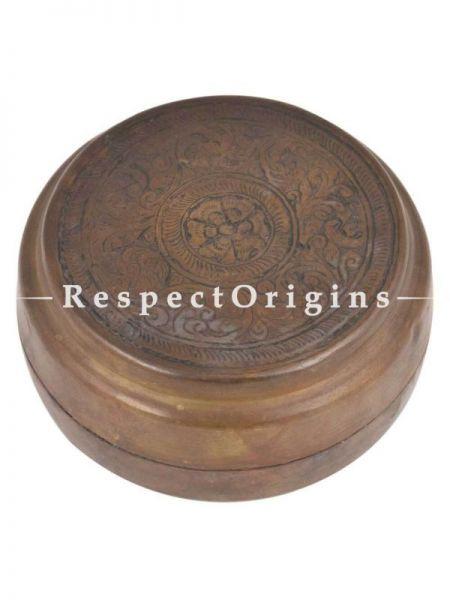 Buy Vintage Brass Roti Box, Collectibles, Keepsake Box, Round At RespectOrigins.com