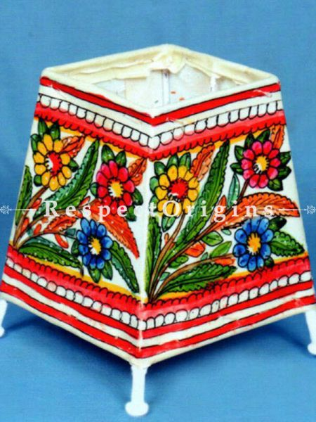 Buy Floral Design; Leather Lamp Shade; 5 in At RespectOrigins.com