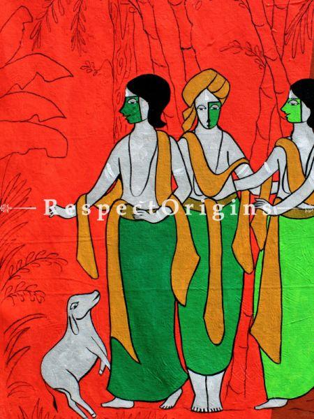 Friendship ; Acrylic on Canvas ; 28X22 In ; Horizontal Painting|RespectOrigins.com