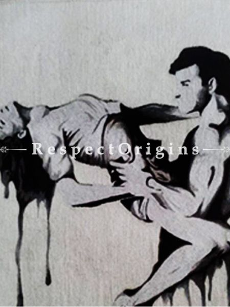 Buy Elegant thread painting depicts the ecstasy of a man and woman; Size 18x14 in At RespectOriigns.com