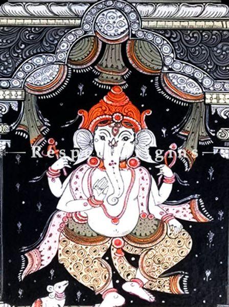 Buy Gajakarna Pattachitra Katha Gajakarna Pattachitra Painting Canvas Large Vertical Folk Art of Odisha 19x13; RespectOrigins.com