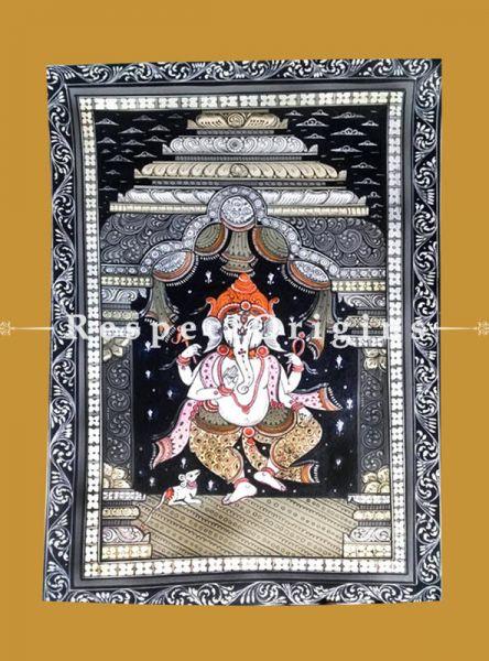Gajakarna Pattachitra Katha Gajakarna Pattachitra Painting Canvas Large Vertical Folk Art of Odisha 19x13