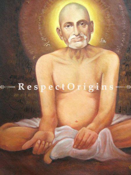 Gajanan Maharaj Painting - 24In x 30In; Oil On Canvas