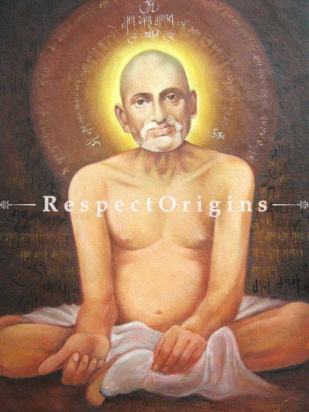 Adorable Painting of A Gajanan Maharaj Made of Oil on Canvas   Buy Adorable Painting of A Gajanan Maharaj Made of Oil on Canvas   Online RespectOrigins