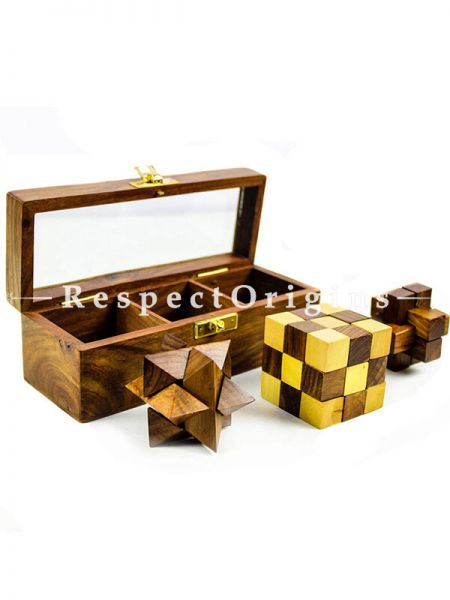 Buy 3 in 1 3D Assembly Puzzles Glass Games Box At RespectOrigins.com