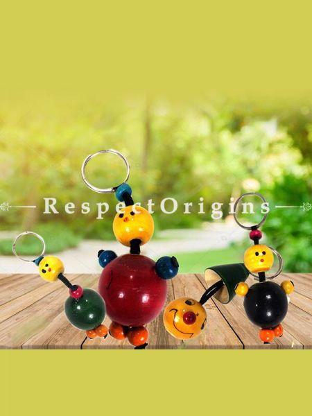 Buy Key Chain Set; Channapatna Toys; Safe and non-toxic Colors At RespectOrigins.com