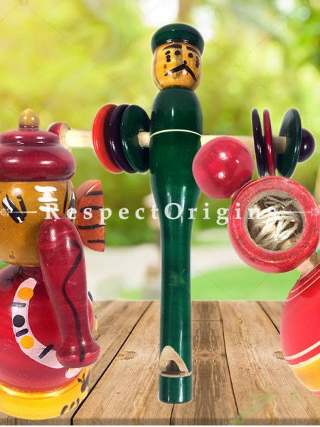 Buy Ganesha, Rattle & Latoo Set; Channapatna Toys; Safe and non-toxic Colors At RespectOrigins.com