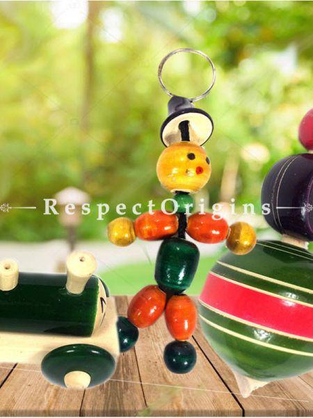 Buy Key Chain, Choo Choo Engine & Latoo Set; Channapatna Toys; Safe and non-toxic Colors At RespectOrigins.com