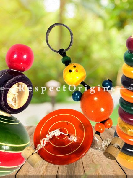 Buy Stackable Joker, keychain, Lattoo Set; Channapatna Toys; Safe and non-toxic Colors At RespectOrigins.com