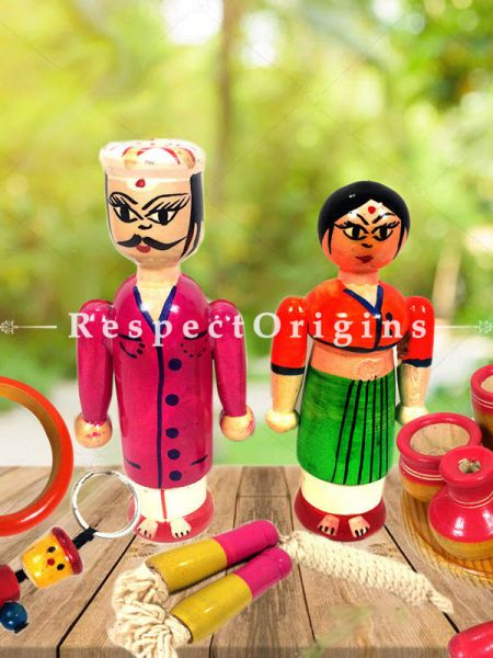 Buy Joker, Skipping Rope and Kitchen Set; Channapatna Toys; Safe and non-toxic Colors At RespectOrigins.com