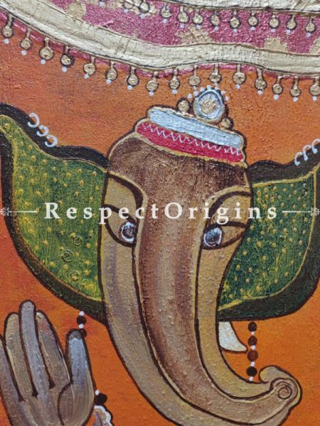 Ganpati; Acrylic On Canvas Painting; 12 X 18 Inches; RespectOrigins.com