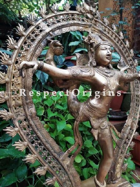 Buy Genuine Bronze Shiva Statue with Prabhavalli. At RespectOrigins.com