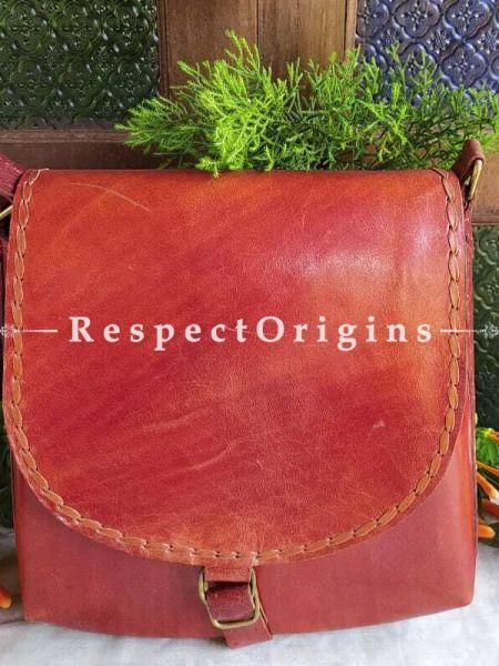 Genuine Leather Unisex Handcrafted Satchel Brown or Bags; RespectOrigins.com
