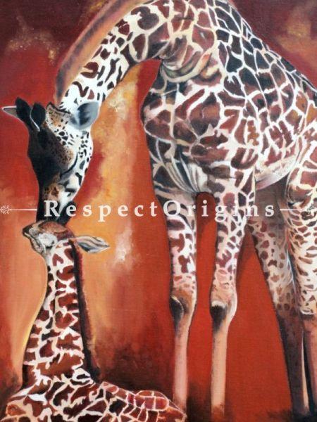 Wall Art|Original Art|Giraffe Indian Painting|RespectOrigins