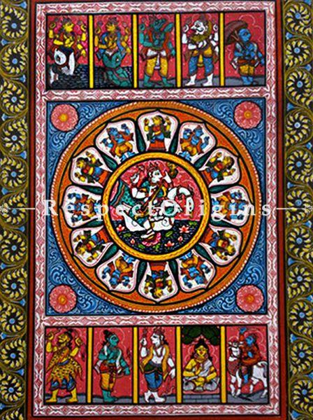 Buy Goddess Saraswathi Pattachitra Katha; 18 X12 in; RespectOrigins.com