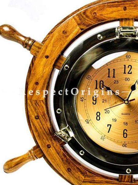 Buy 24 Inches Exclusive Pirates Nautical Ships Steering Wheel Styled Lavish Wall Decor Porthole At RespectOrigins.com